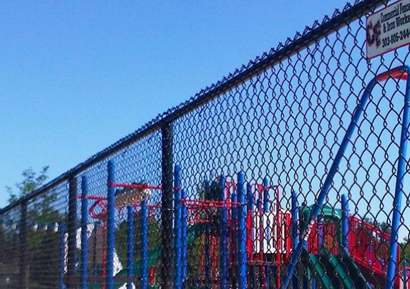chain link fence at park