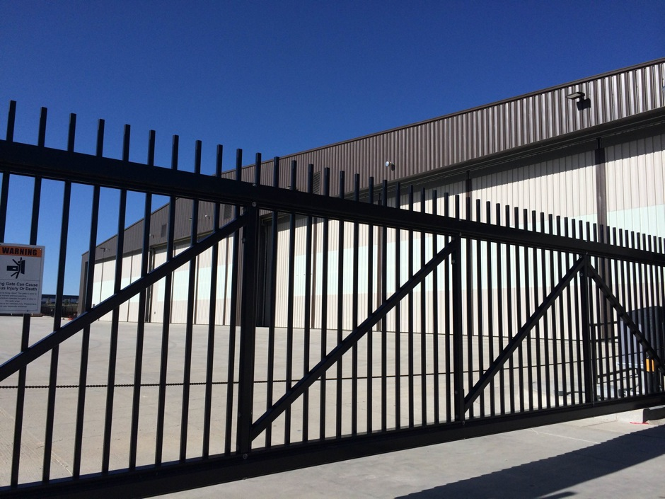 Automated-Entry-gate black iron