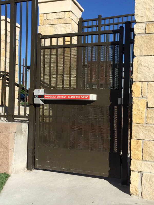 automated iron security gate push bar