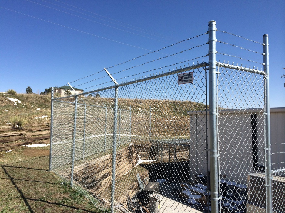 tall high security chain link fence commercial