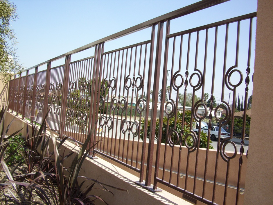 Custom decorative fabricated iron fence
