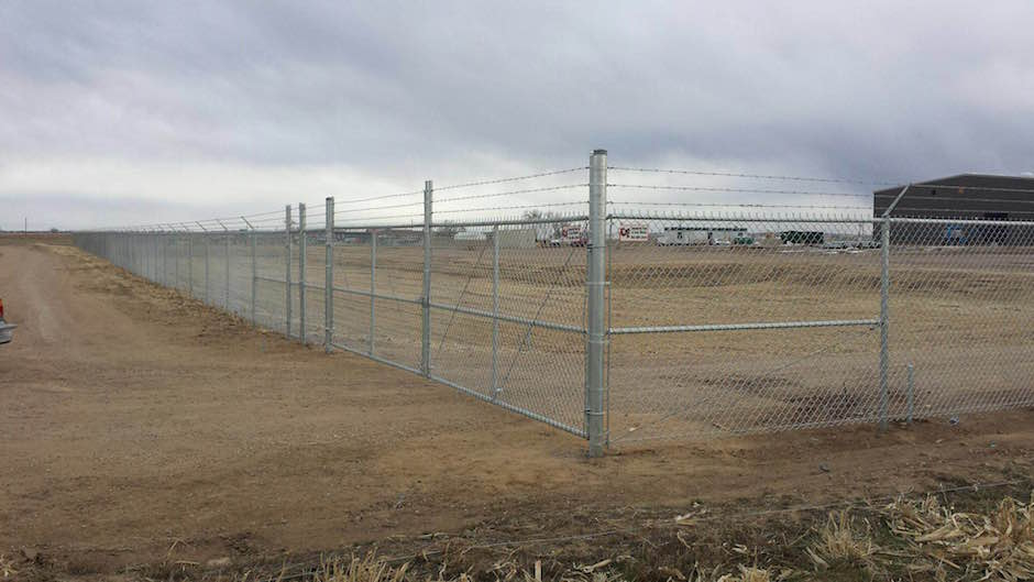 High-Security-Fence chain link barbed wire top