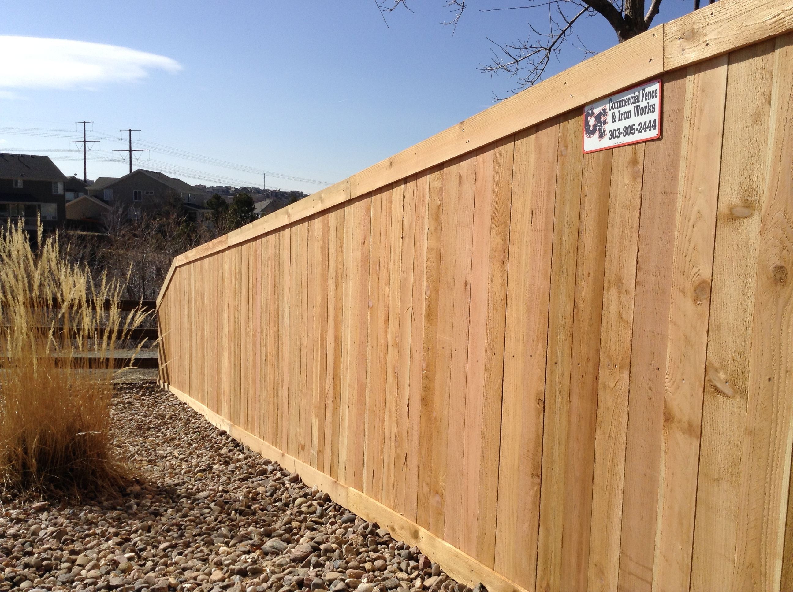 residential privacy fence wood