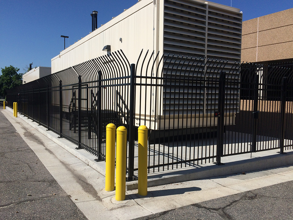black iron high security fence pointed top