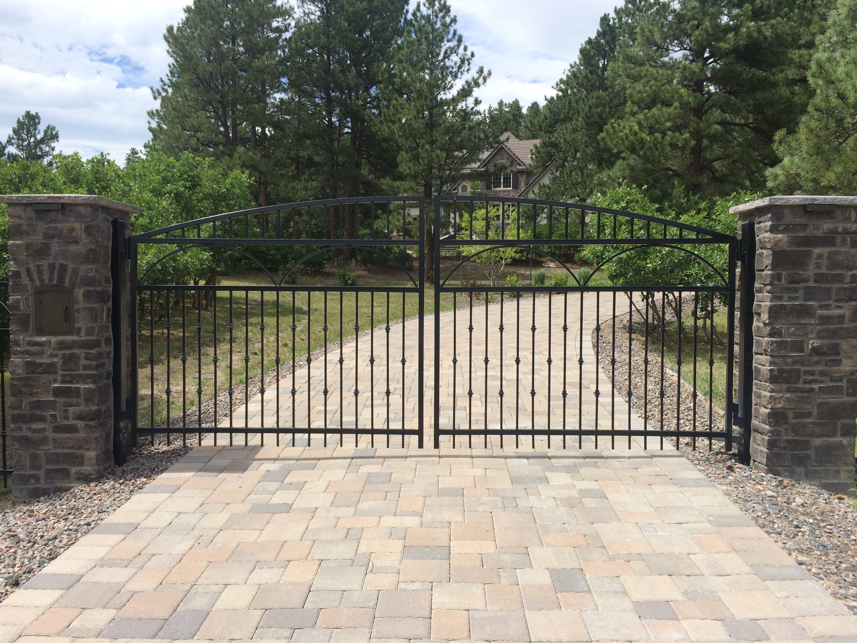 automated ornamental iron gate