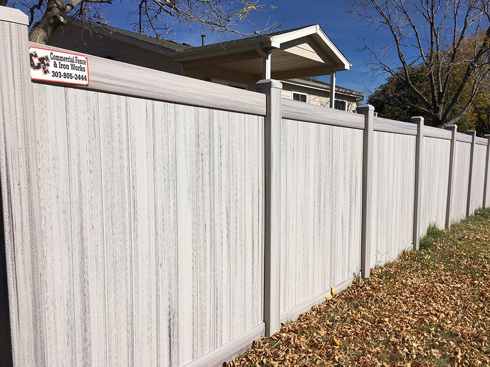 tall grey peak fence system HOA