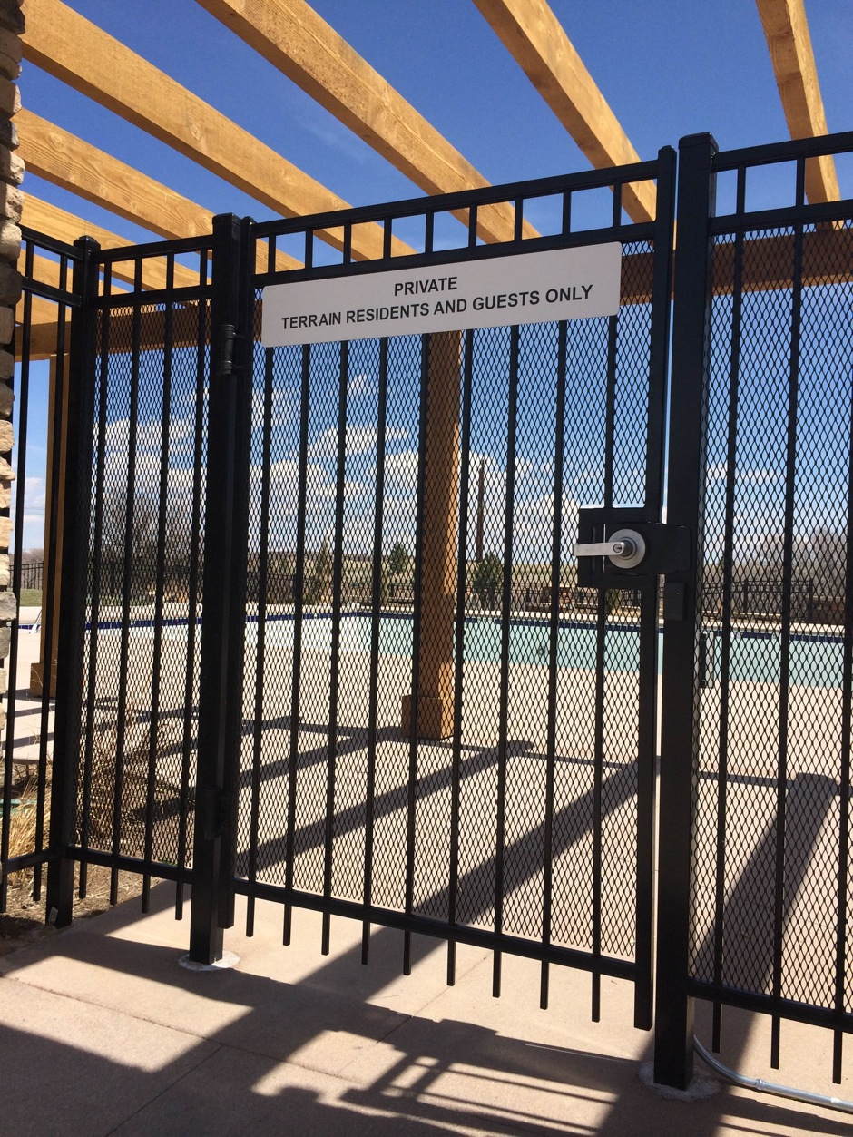 commercial ornamental iron fence and gate