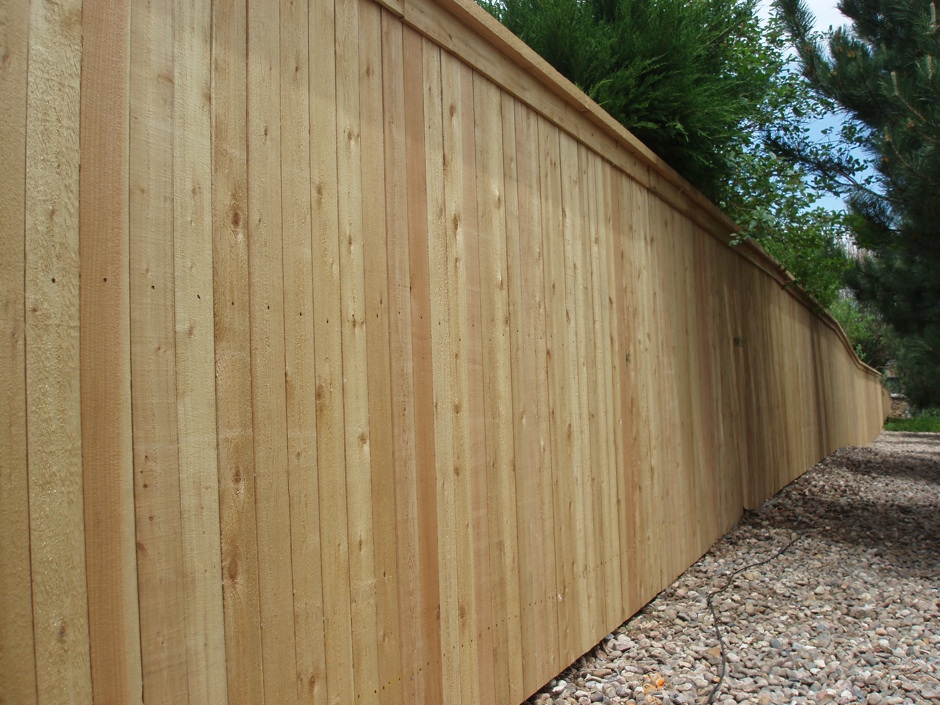 residential privacy fence wood HOA