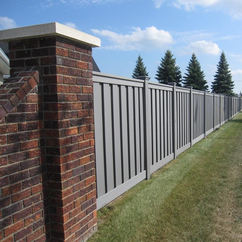 tall Trex Grey with brick HOA