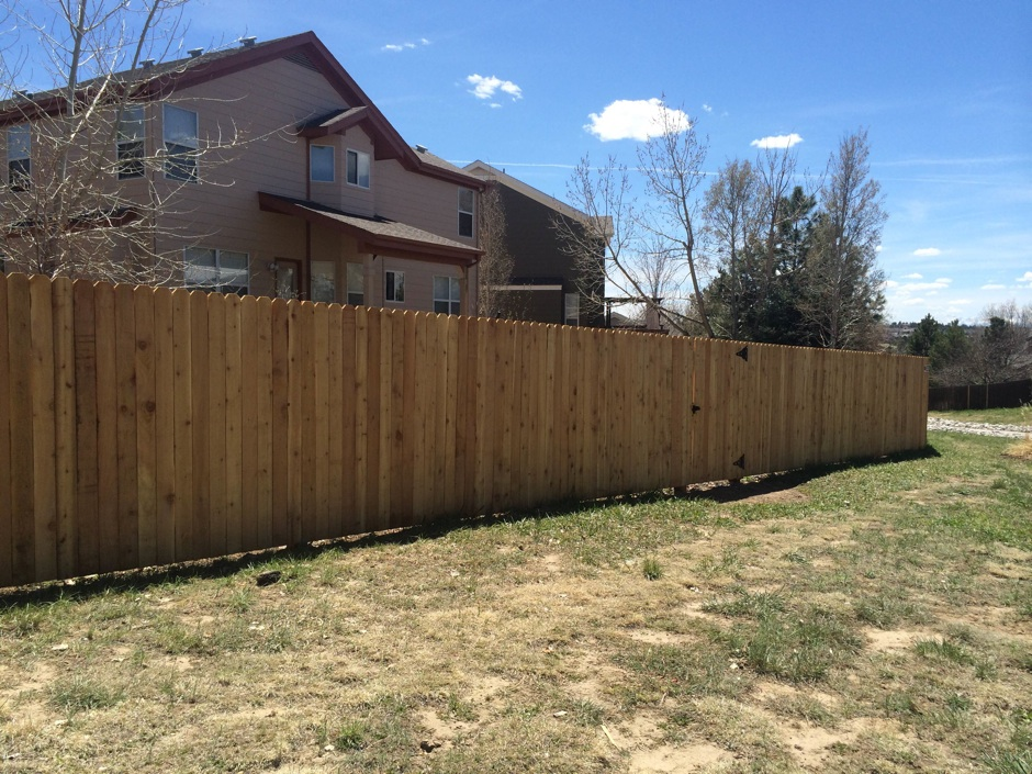 wood privacy fence after constructed residential