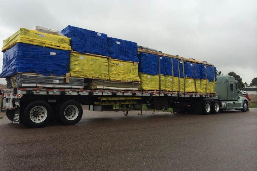 semi-truck tractor trailer fence materials