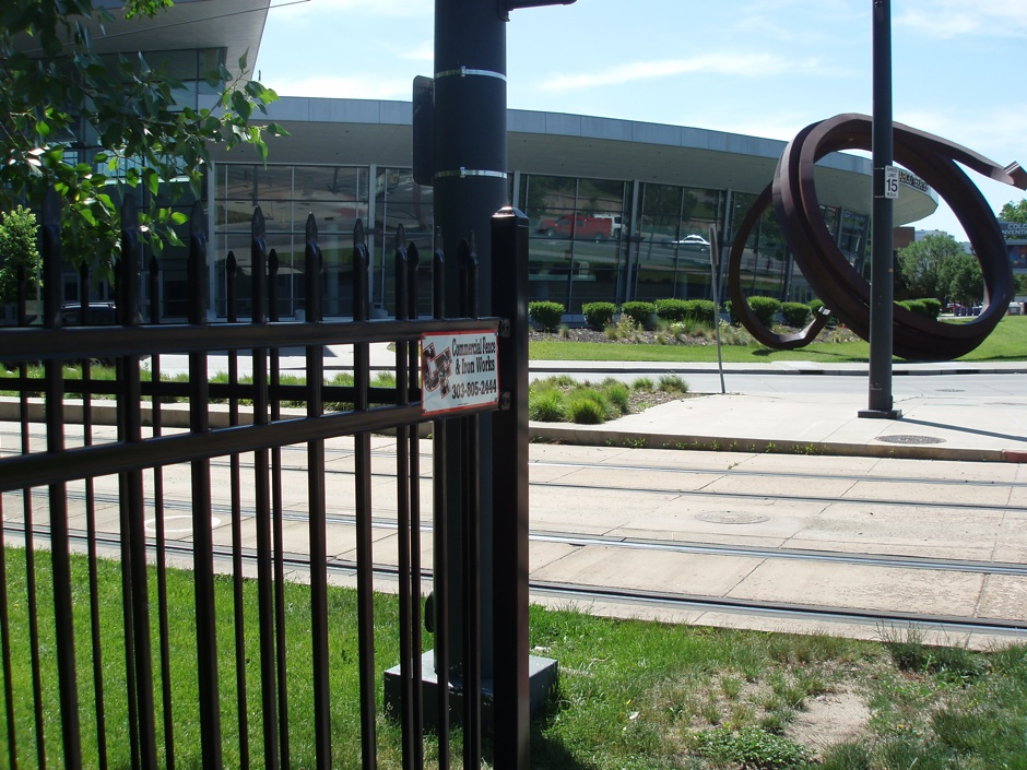 decorative black iron fence commercial