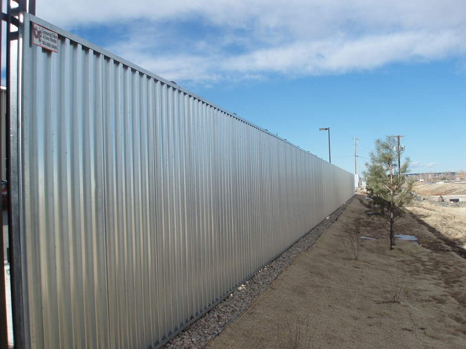Custom decorative fabricated metal fence commercial
