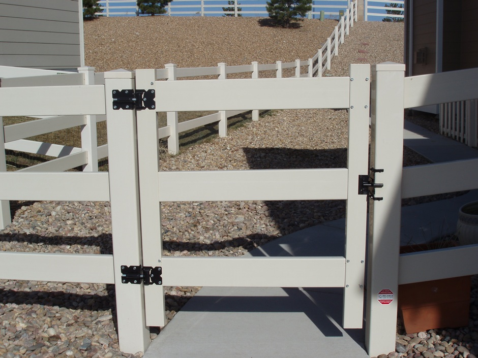 residential plastic fence 3-rail