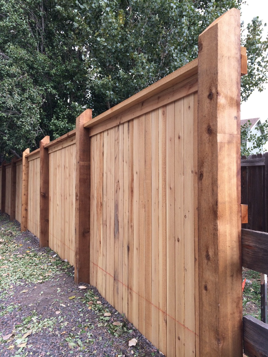 wood privacy fence HOA