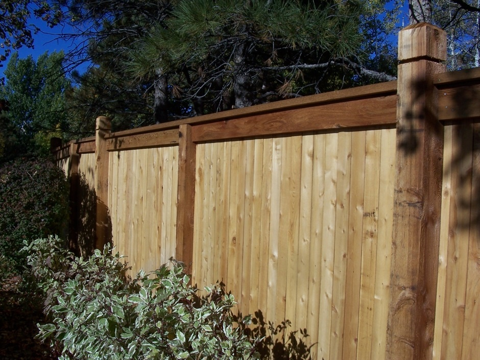 wood privacy fence tall HOA
