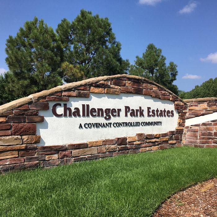 monument sign at Challenger Park Estates HOA
