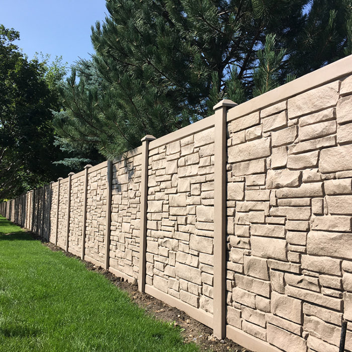 Simtek Eco-Stone Fence at Challenger Park Estates HOA