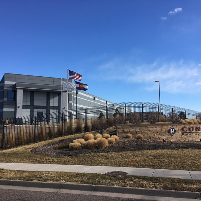 high security perimeter fence and sign at Via West Compark Data Center