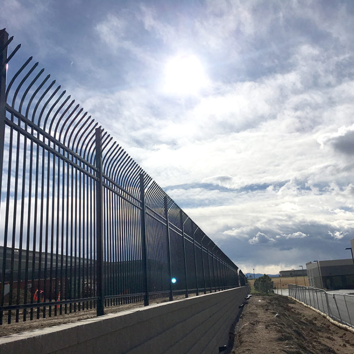 high security perimeter fence at Via West Compark Data Center